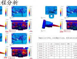 基于流动式冷却与移动式喷涂状态下整模温度分析